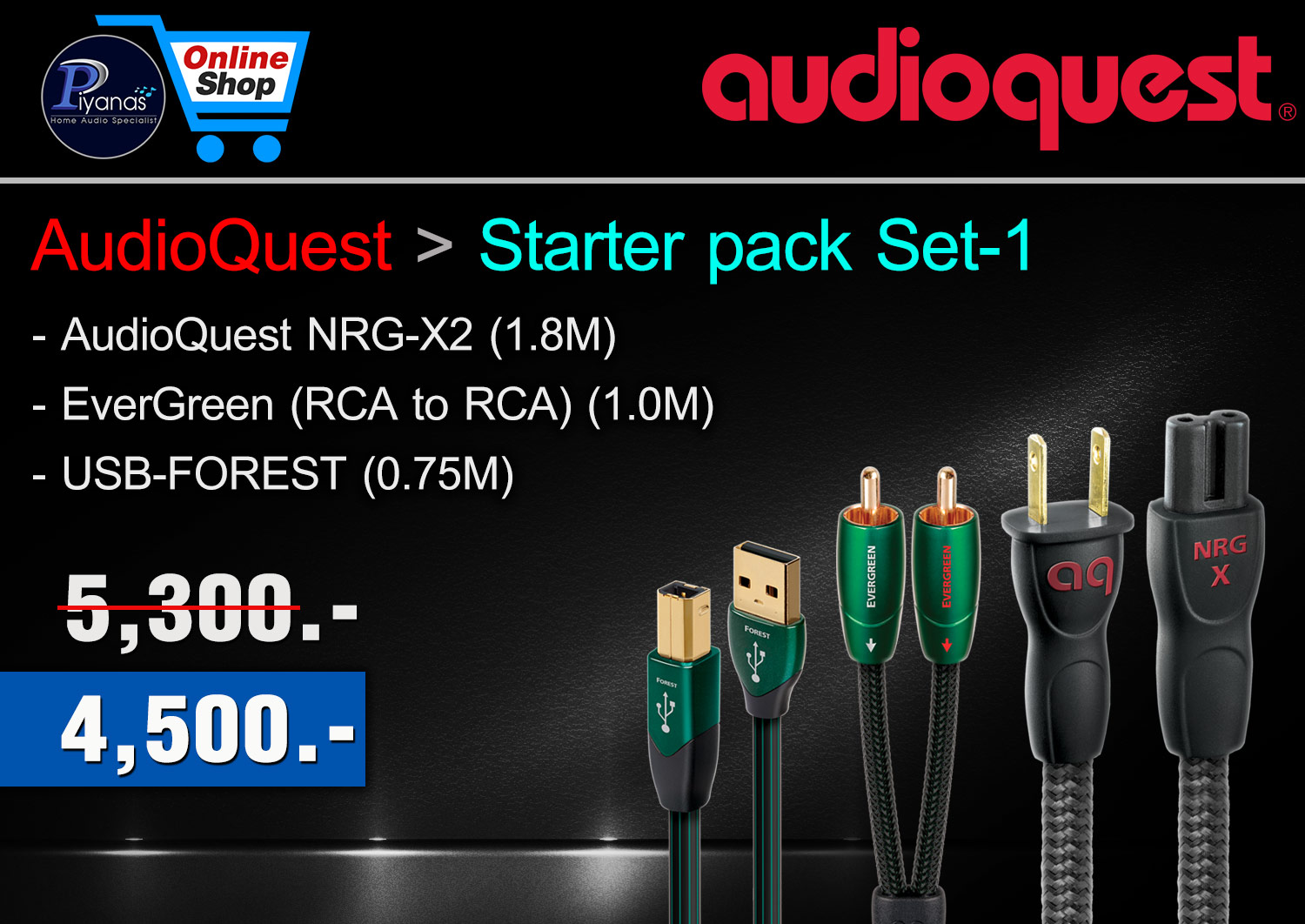 AudioQuest Starter pack set 1