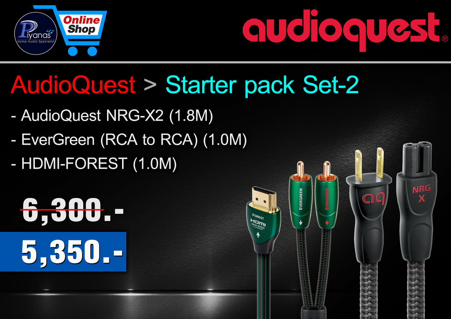 AudioQuest Starter pack set 2