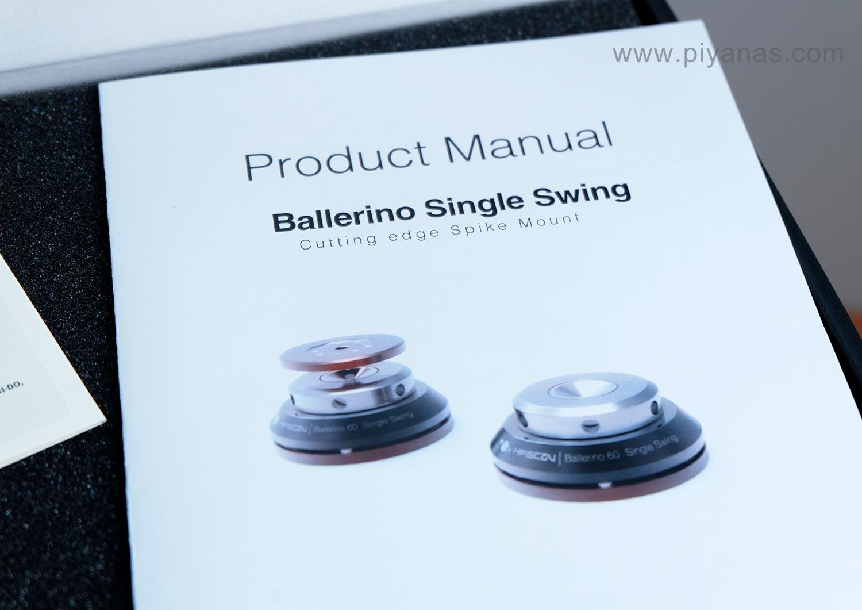 Ballerino 60 single swing (60 mm)  Set of 4 (Black/Silver)