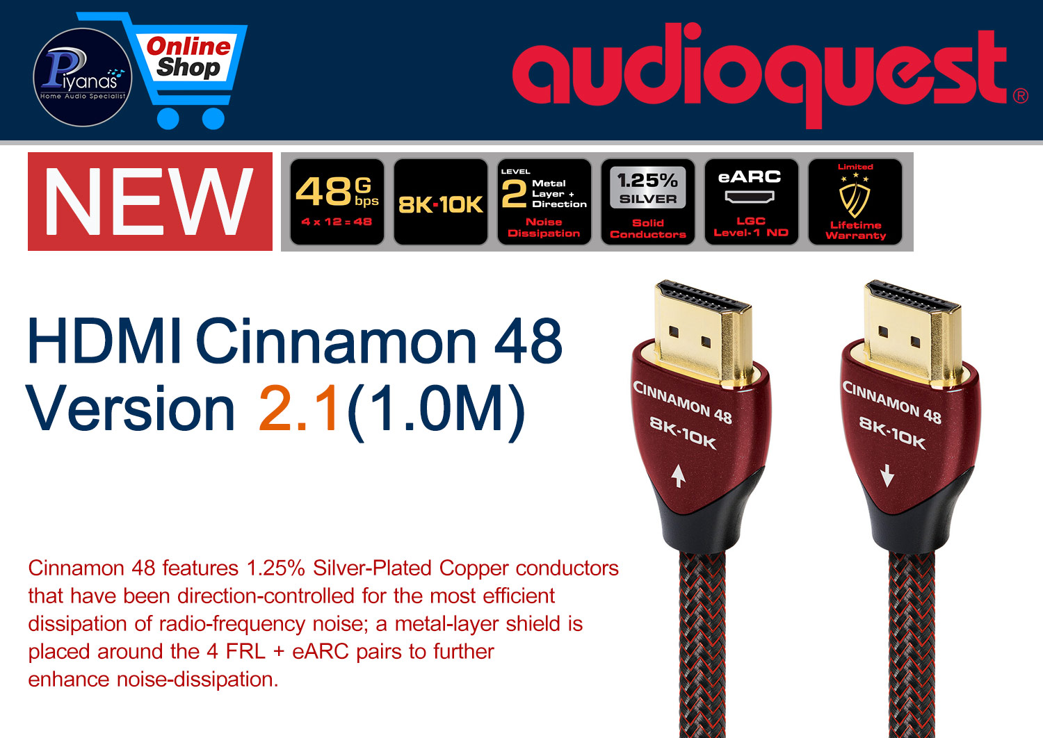 HDMI-Cinnamon 48 Version 2.1 (1.0M)