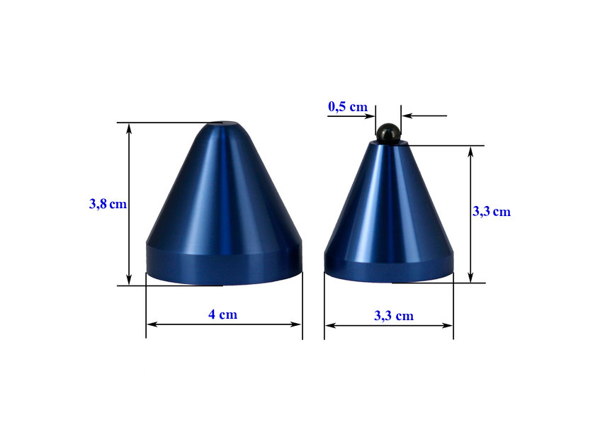 Cold Ray 4 Ceramic Blue Set of 4