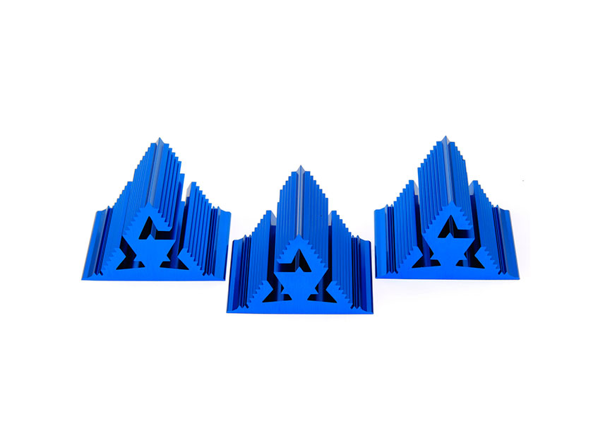 Cold Ray Fractal 7 Blue Set of 3