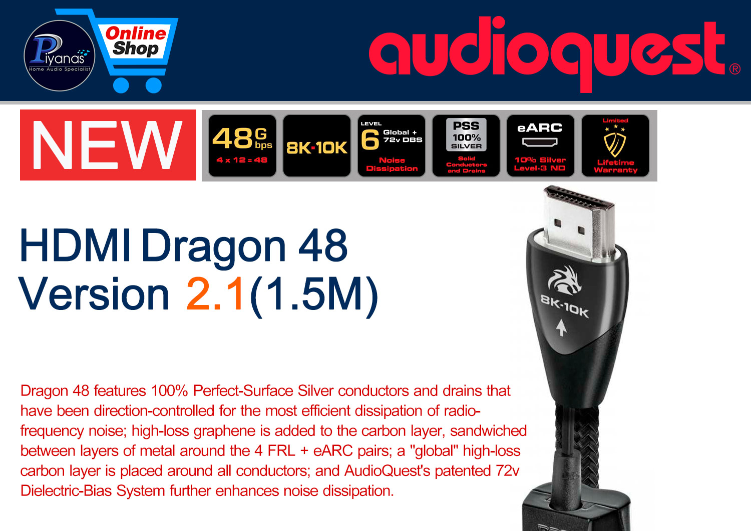 HDMI-Dragon 48 Version 2.1 (1.5M)
